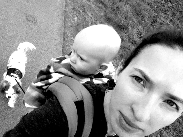 Babywearing While Walking Dog