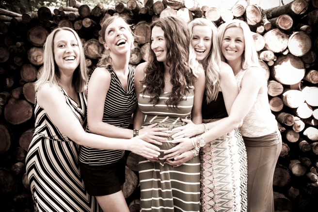 Pregnant Belly Photo With Friends