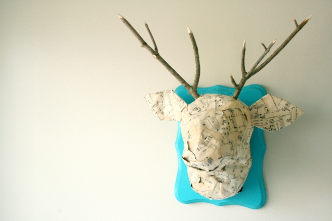 DIY Paper Mache Deer Head