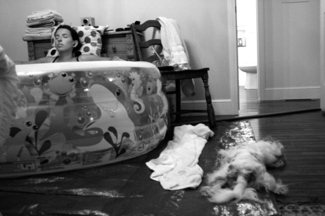 Birth Pool with Dog