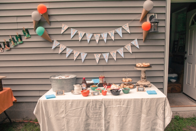 Ice Creme Theme Birthday Party