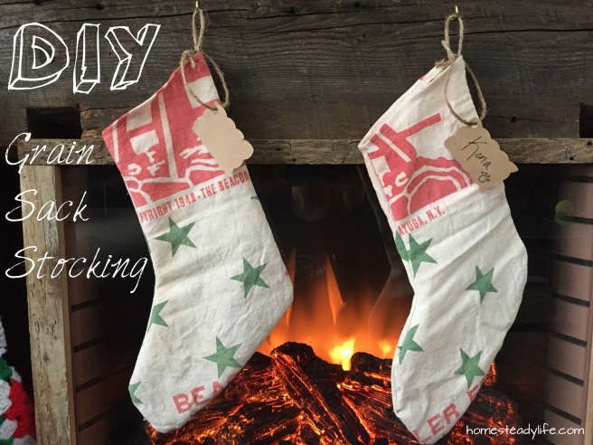DIY Grain Sack Stocking