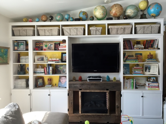 DIY Ikea Hemnes Built-In Bookcases