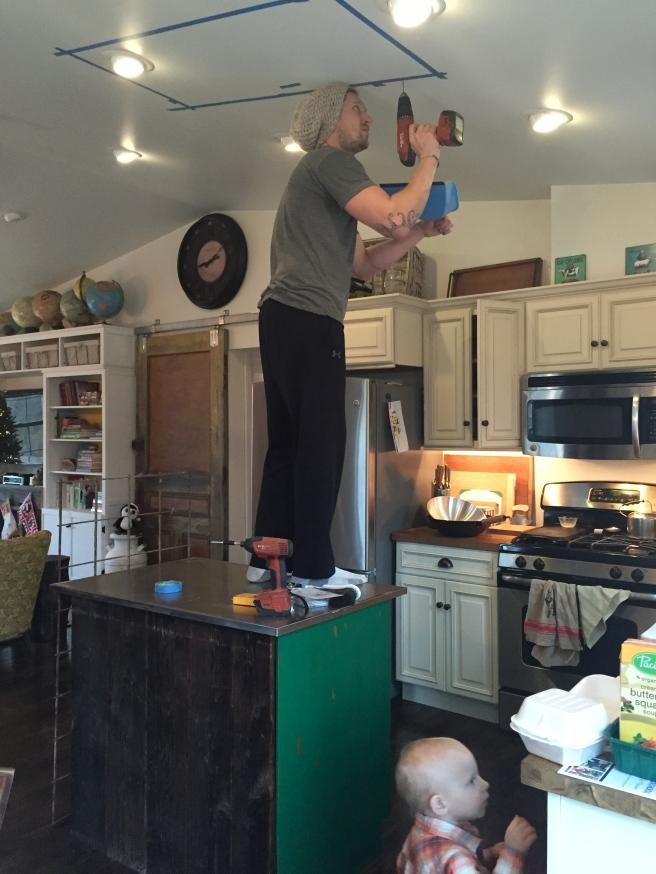 Installing the hanging pot rack