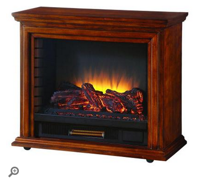 Hampton Bay Derry Electric Fireplace in Cherry